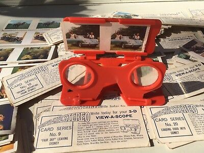Vintage Sanitarium Weet-Bix View-a-scope & 151 True To Life Stereo 3D Cards.TAA