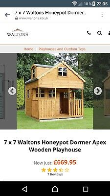 7 x 7 Waltons Honeypot Dormer Apex Wooden Playhouse