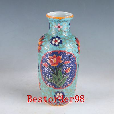 Chinese Famille Rose Porcelain Hand-painting Flower Vase W Chenghua Mark PJ1099