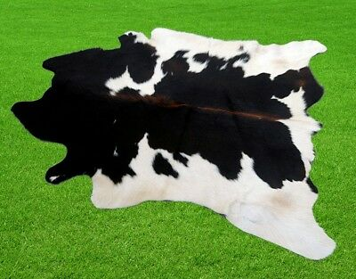 "New Cowhide Rugs Area Cow Skin Leather 13.44 sq.feet (44""x44"") Cow hide A-1266"
