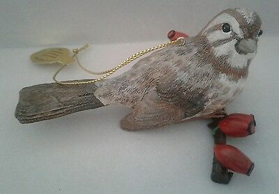 "Danbury Mint ""Song Sparrow"" from The Songbird Christmas Ornaments Collection"