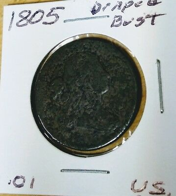 1805 Draped Bust Large Cent- Nice Coin