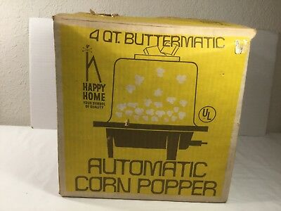 Vintage ~ Happy Home Buttermatic Popcorn Popper ~ New In Box ~ Complete