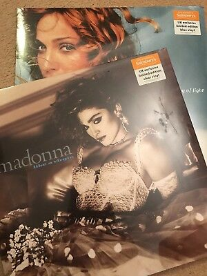 Madonna - Ray Of Light (Blue) & Like A Virgin Clear Vinyl Uk Sainsburys Release