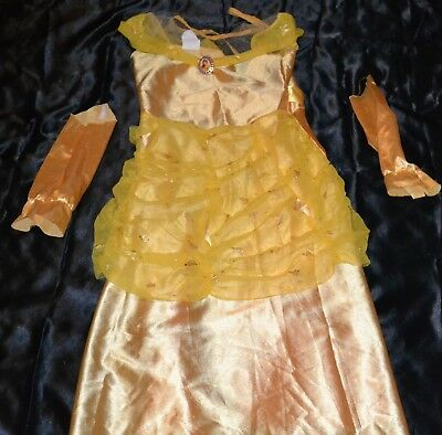beauty and the beast belle bell halloween costume fits kids size 7 8 princess