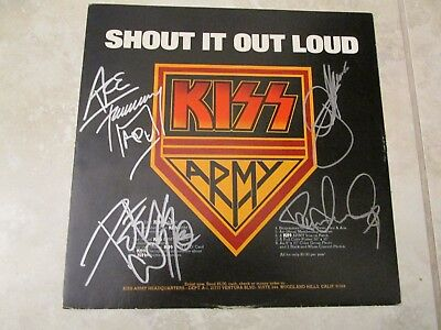 Kiss  Signed Album- Destroyer 1976 Ace Frehley Peter Criss Paul Stanley - Rare