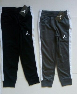 New 2 AIR JORDAN JUMPMAN Trackpants Boys Grey Black Track Sweat Pants NWT M