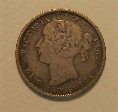 1862 New Brunswick 20 Cent - Nice Fine - Hard To Find - Silver Coin