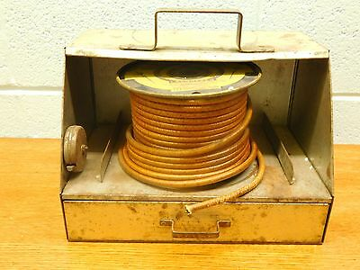 Vintage~ Auto-Lite~ Sterling Cable Box Dispenser ~ w/Cable and Tools ~Ships Free