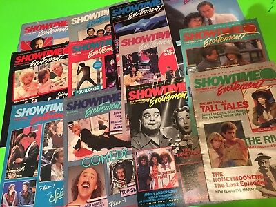 1985 COMPLETE Showtime- movie cable TV program guides -12 issues