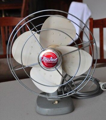 Vintage Mistral Desktop Fan Working Condition
