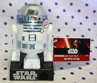 Star Wars R2D2 Dispenser Candy with SOUND 3 Patterns NEW w/ Tags FACTORY SEALED!