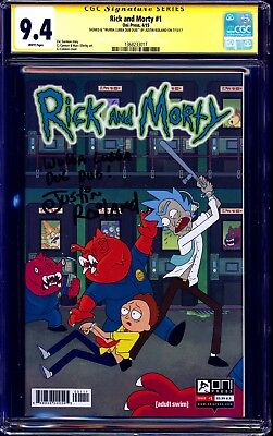 Rick and Morty #1 CGC SS 9.4 signed WUBBA LUBBA DUB DUB Justin Roiland 1st PRINT