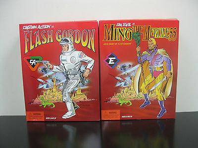 Captain Action Flash Gordon & Ming The Merciless Lot of 2 Figures Playing Mantis