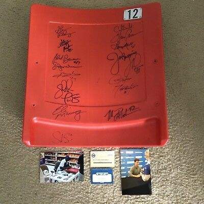 17 Giants Greats Signed Autographed Meadowlands Game Used Seat Back Steiner Coa