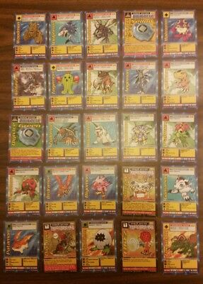 Lot of 50 Digimon Cards 48 from 1999 and 2 from 2002 see pics