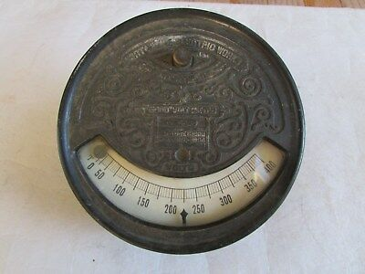 "RARE ANTIQUE FORT WAYNE ELECTRIC CORP ""WOOD"" VOLT METER Patent 1889, 1894"