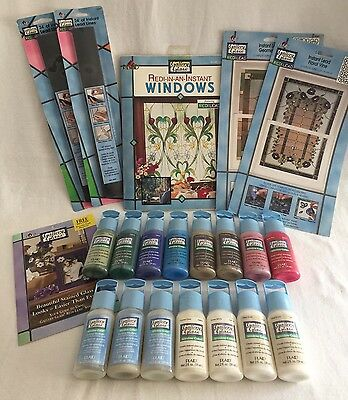 Gallery Glass Paint Window Color Instant Lead Lines Etching Medium Lot Plaid