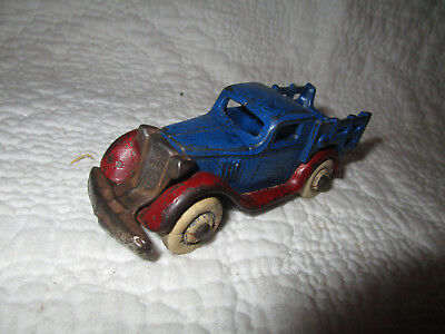 1933 Arcade cast iron Nickel Grill Chevy Stake bed truck Chevrolet Nice Original