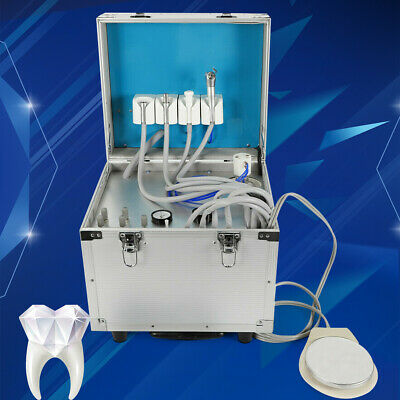 Dental Delivery Units Control SYSTEM Mobile Rolling Case+Air Compressor +Suction
