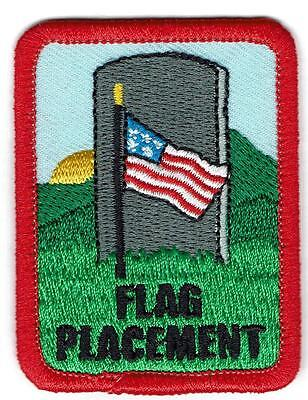 Boy Girl cub FLAG PLACEMENT Grave Cemetery Memorial Patches Badges GUIDES SCOUT