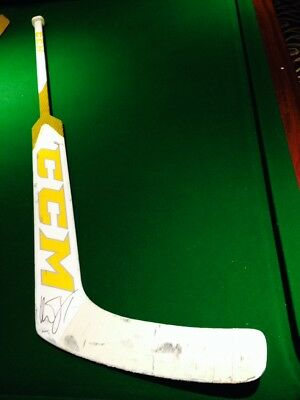 Roberto Luongo Game Used Signed Stick 2017 Florida Panthers