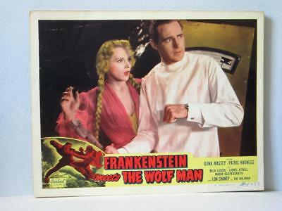 FRANKENSTEIN MEETS THE WOLFMAN Realart rr Lobby Card ILONA MASSEY PATRIC KNOWLES