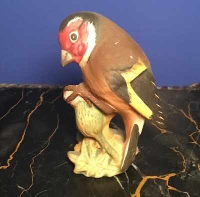 Vintage BESWICK Made In England GOLDFINCH Porcelain BIRD Figurine #2273
