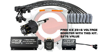 ICE Ignition NEW 7 AMP 2-STEP Kit with 2 REV LIMITERS - Ford Cleveland V8 & BB