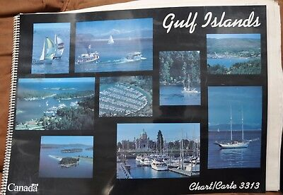 Canadian Nautical Chart Book Gulf Islands 3133 dated 1995