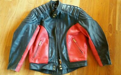 Mars retro classic vintage leather motorcycle jacket 44 inch XL