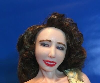 """Hazel"" 50's Pin up OOAK Polymer Clay doll"