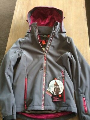 "CRANE Grey & Pink ""Thinsulate"" Extreme Ski/Snowboarding/Snow Jacket Size M"