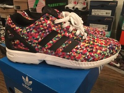 1a0c8c1f736ff ADIDAS ZX FLUX Prism Multicolor Running Trainer Shoe Us Size 9 Rare ...