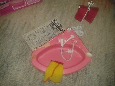 1980s Barbie Bathroom set