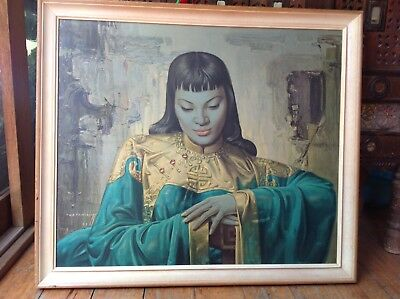 Original Tretchikoff Print 'lady From Orient (Shanghai)' Vintage