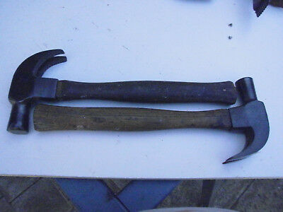 2 x Vintage Claw Hammers