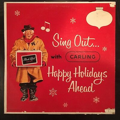 Sing Out With Carling Happy Holidays Ahead LP Beer Vinyl Christmas Record