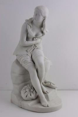 19th Century Parian Figure Dorathea by John Bell - Victorian Registration Mark