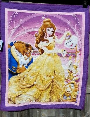 Beauty and the Beast themed cot-sized quilt