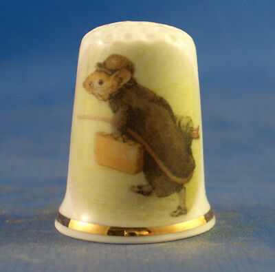 Birchcroft China Thimble - Beatrix Potter Johnny Town Mouse  -  Free  Gift Box