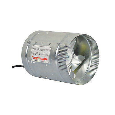 """4"""" 6"""" Inch Booster Fan Ventilation Inline Blower Exhaust Ducting Cooling Vent"""