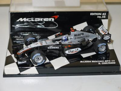 Minichamps 2004 David Coulthard McLaren Mercedes MP4/19 Signed!