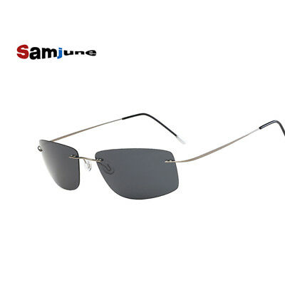 Men Sunglasses Polaroid Polarized Titanium Silhouette Square Sun glasses