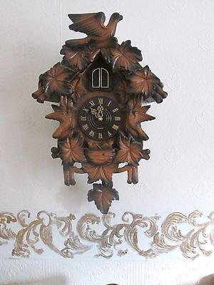 Vintage  Cuckoo Clock  With Quartz Battery All Complete