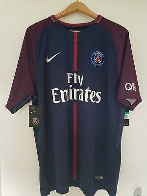 A 2017-2018 Neymar Paris St Germain football shirt