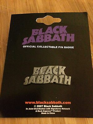Black Sabbath Pin Badge Official Merchandise CHOICE OF 2 COLOURS