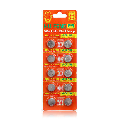 20 pcs AG10 1.5V LR1130 SR1130 LR54 SR54 389 189 G10 Button Cell Coin Battery