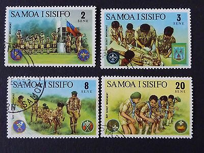 1130]  Stamps Of Samoa  - 1973 Boy  Scouts  Fine Used