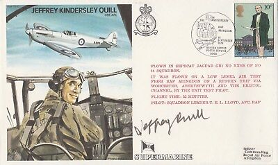 "RAF Test Pilot cover Jeffrey Kindersley Quill signed Jeffrey Quill ""Mr Spitfire"""